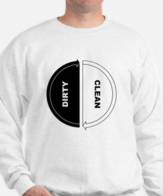 Unique Dirty clean dishwasher Sweatshirt