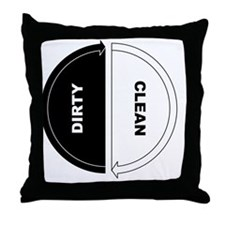 Cool Dirty clean dishwasher Throw Pillow
