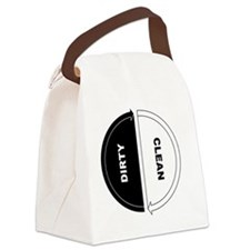 Cool Dirty clean dishwasher Canvas Lunch Bag
