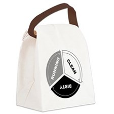 Cute Dirty clean dishwasher Canvas Lunch Bag