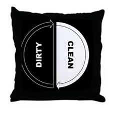 Unique Dirty clean dishwasher Throw Pillow