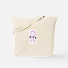 Katy pink ribbon Tote Bag