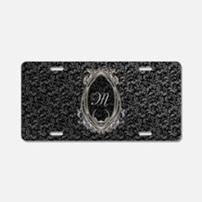 Elegant Damasks Frame Aluminum License Plate