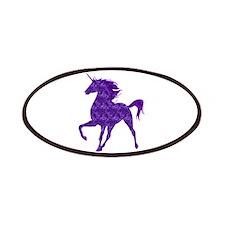 Purple Fire Unicorn Patches