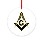 Masonic Black Ornament (Round)