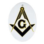 Masonic Black Ornament (Oval)