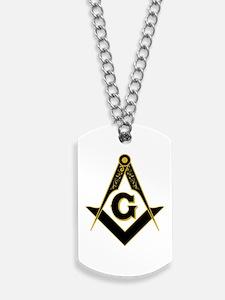 Masonic Black Dog Tags