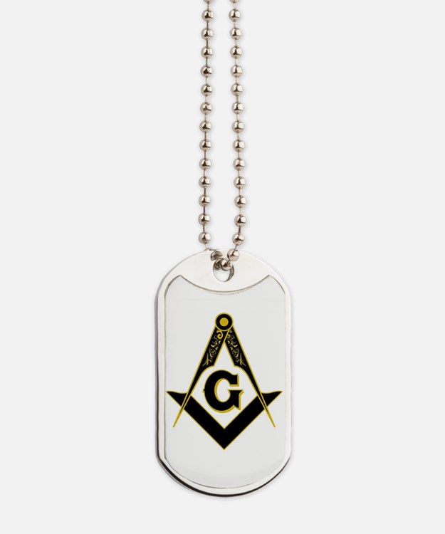 Masonic Black Dog Tags