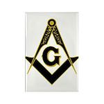 Masonic Black Rectangle Magnet (10 pack)