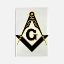 Masonic Black Rectangle Magnet