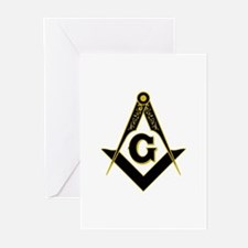 Masonic Black Greeting Cards (Pk of 10)