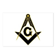 Masonic Black Postcards (Package of 8)