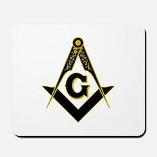 Masonic Black Mousepad