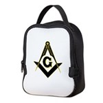 Masonic Black Neoprene Lunch Bag