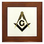 Masonic Black Framed Tile