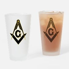 Masonic Black Drinking Glass