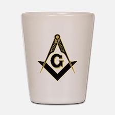 Masonic Black Shot Glass