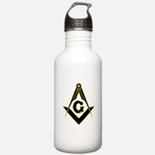 Masonic Black Water Bottle