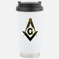 Masonic Black Stainless Steel Travel Mug
