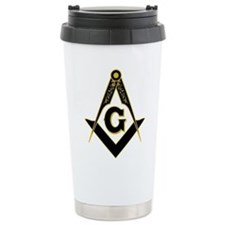 Masonic Black Travel Coffee Mug