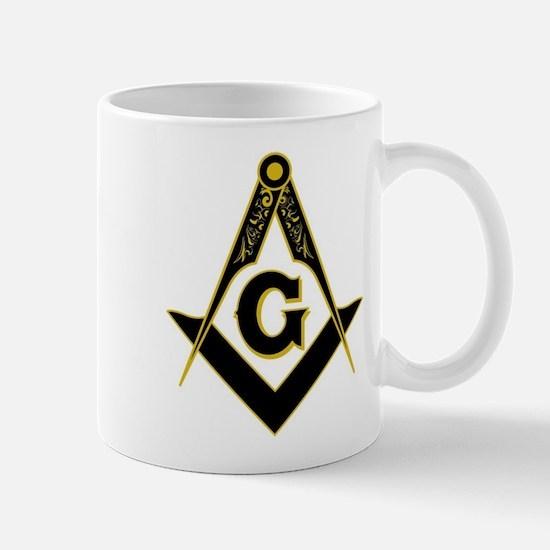 Masonic Black Mug