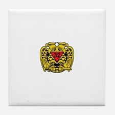 Scottish Rite Eagle Tile Coaster