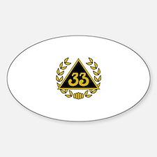 33rd Degree Wreath Sticker (Oval)