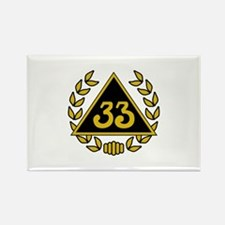 33rd Degree Wreath Rectangle Magnet
