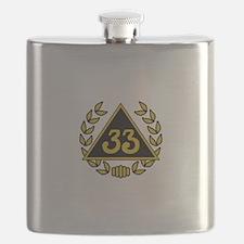 33rd Degree Wreath Flask