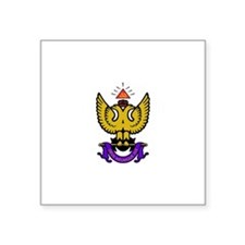 "33rd Degree Wings Up Square Sticker 3"" x 3"""