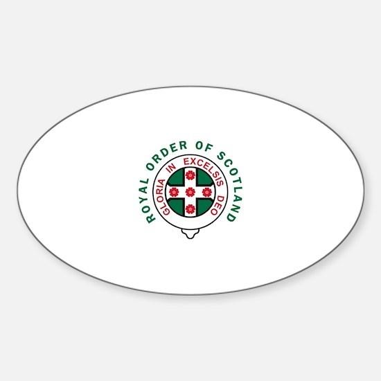 Royal Order of Scotland Sticker (Oval)