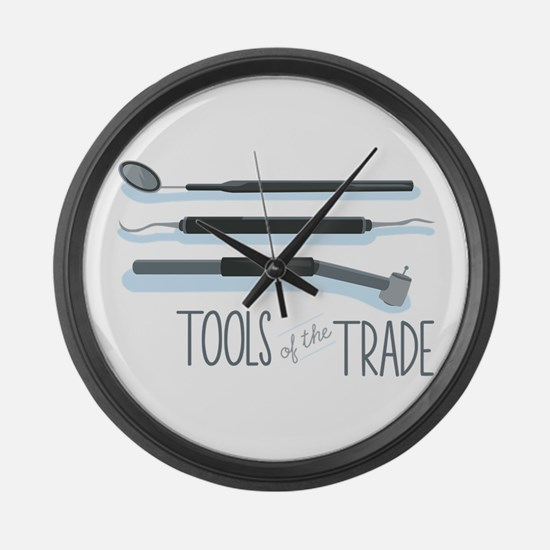 Tools of the Trade Large Wall Clock