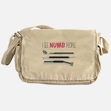 I See Numb People Messenger Bag