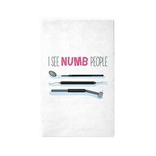 I See Numb People 3'x5' Area Rug