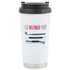 I See Numb People Travel Mug