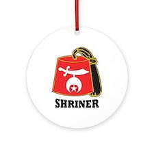 Shriner Fez Ornament (Round)