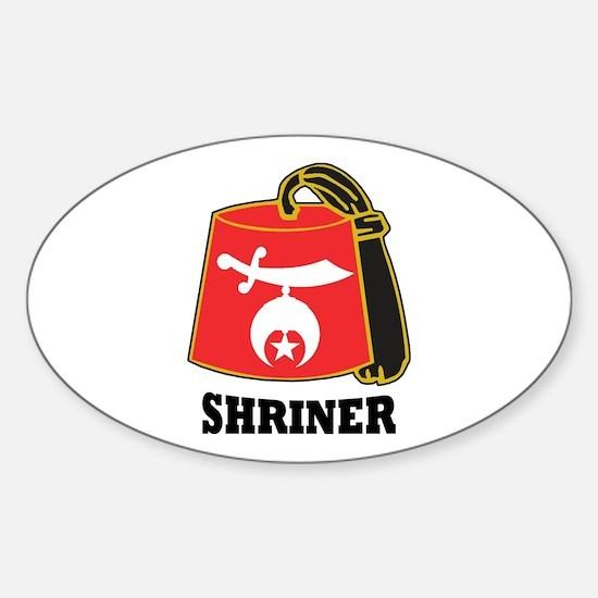 Shriner Fez Sticker (Oval)