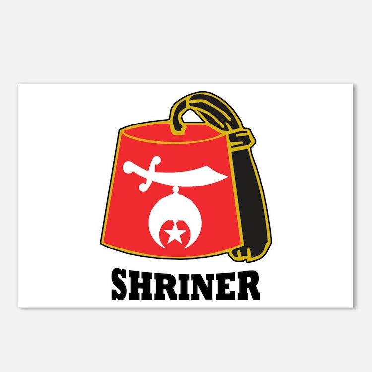 Shriner Fez Postcards (Package of 8)