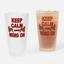 Keep Calm Double Wing Drinking Glass