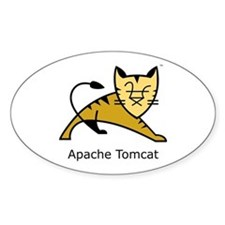 Apache Tomcat Oval Decal