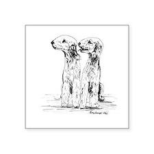 "Bedlington Terrier Square Sticker 3"" x 3"""