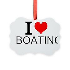 I Love Boating Ornament