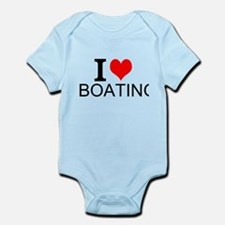 I Love Boating Body Suit