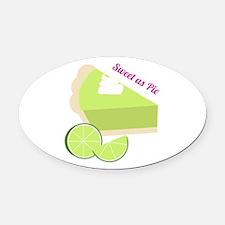 Sweet As Pie Oval Car Magnet