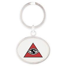 Cute Illuminati Oval Keychain