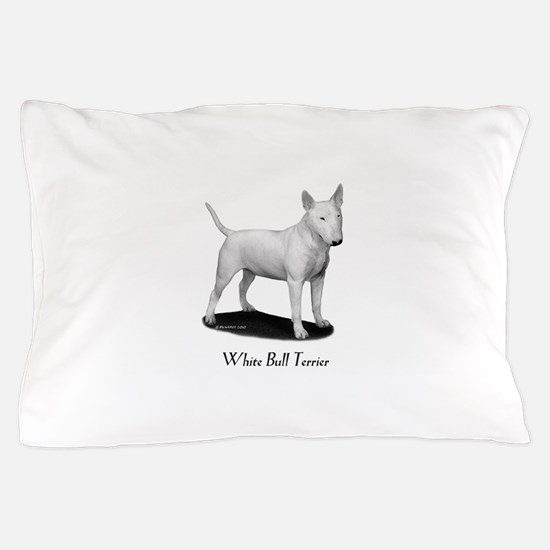 White Bull Terrier Pillow Case