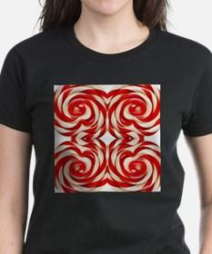 cute candy colorful red candy cane T-Shirt