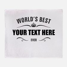World's best ... Throw Blanket