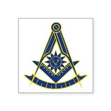 "Past Master 2 Square Sticker 3"" x 3"""