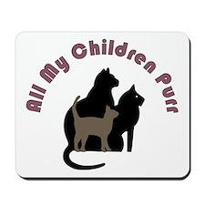 All My Children Purr 2222 Mousepad